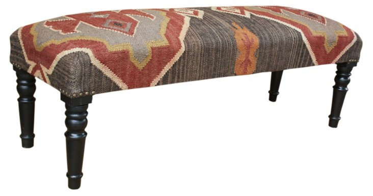 Phoebe Kilim Upholstered Bench