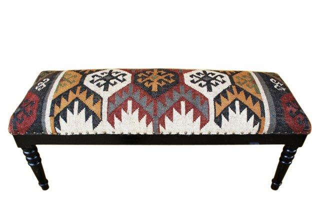 Quaid Kilim Upholstered Bench