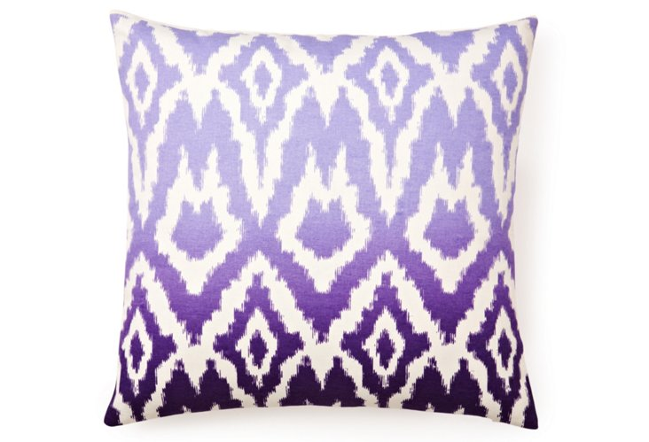 Ombré Ikat 20x20 Pillow, Purple