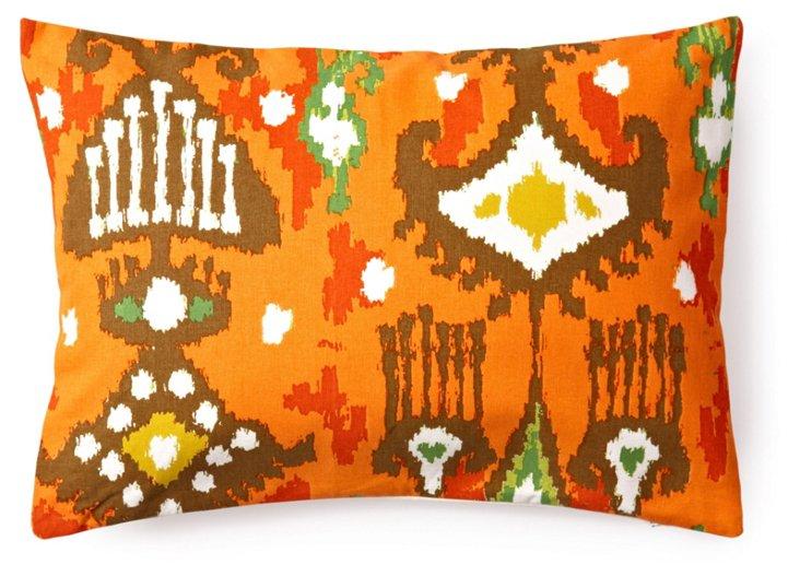 Dijon Ikat 14x20 Pillow, Orange