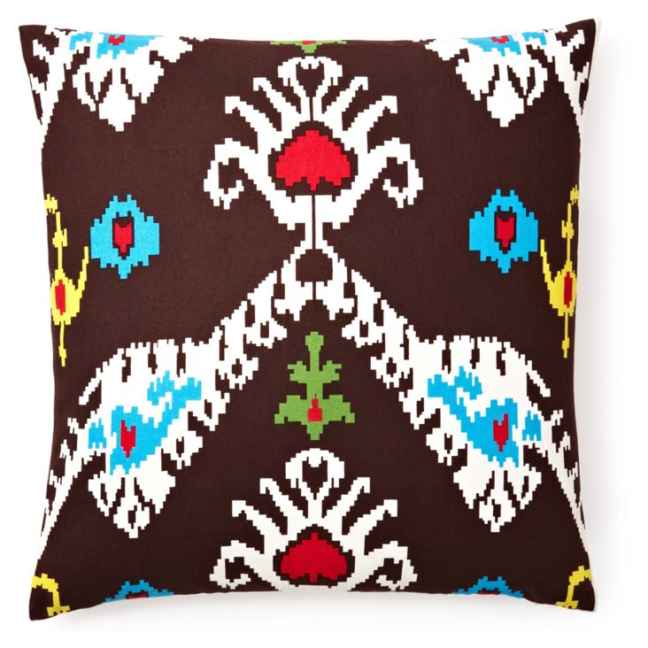Tribal Ikat 20x20 Cotton Pillow, Java
