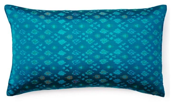 Enchantment 14x24 Silk Pillow, Blue