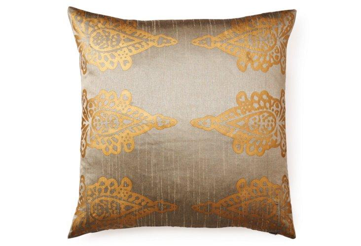 Pasha Khari 20x20 Pillow, Gray