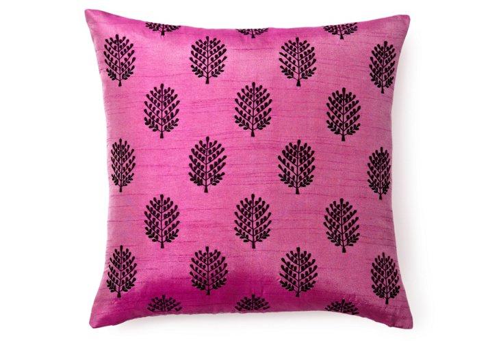 Henna 20x20 Pillow, Purple