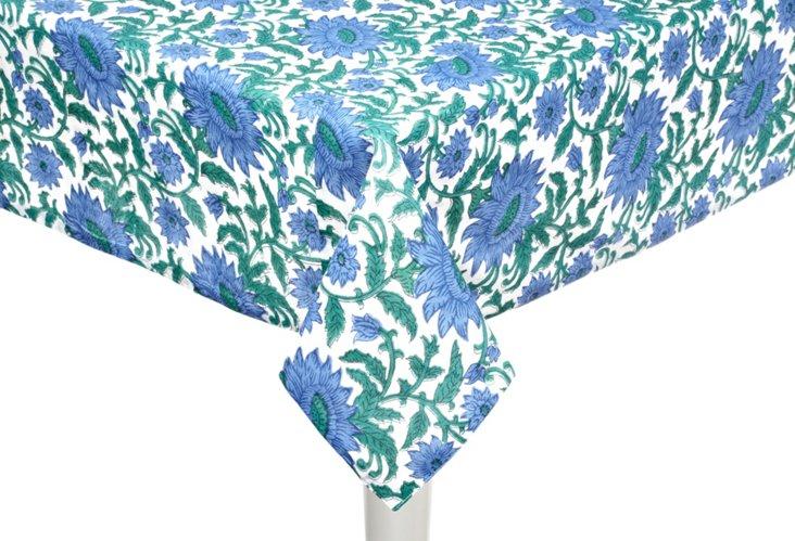 "Blue Veneto Tablecloth, 60"" x 90"""