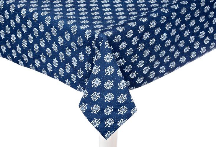 "Indigo Blue Capri Tablecloth, 60"" x 90"""