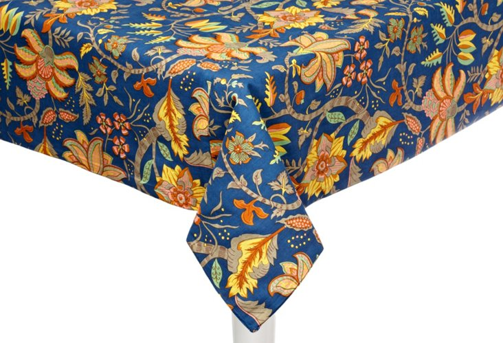 Valentina Tablecloth, Blue