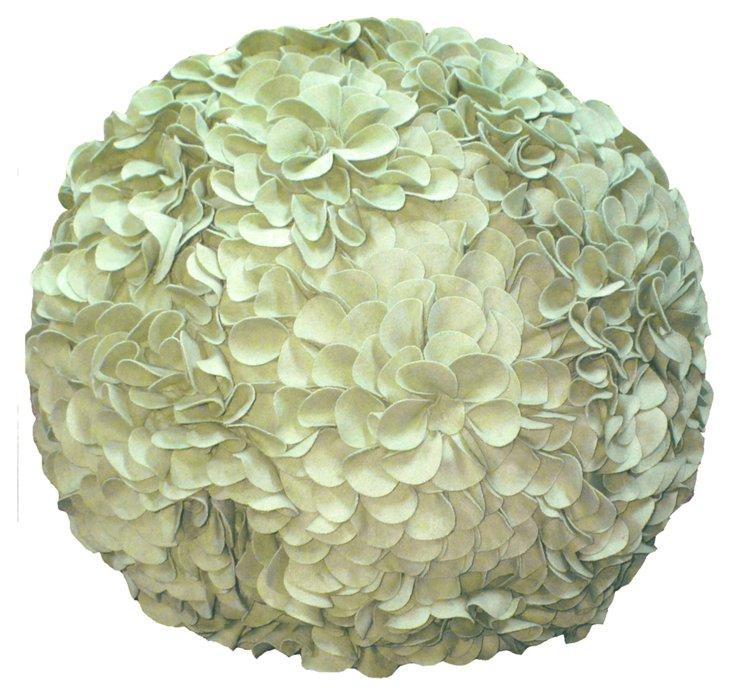 Flower Pouf, Celadon