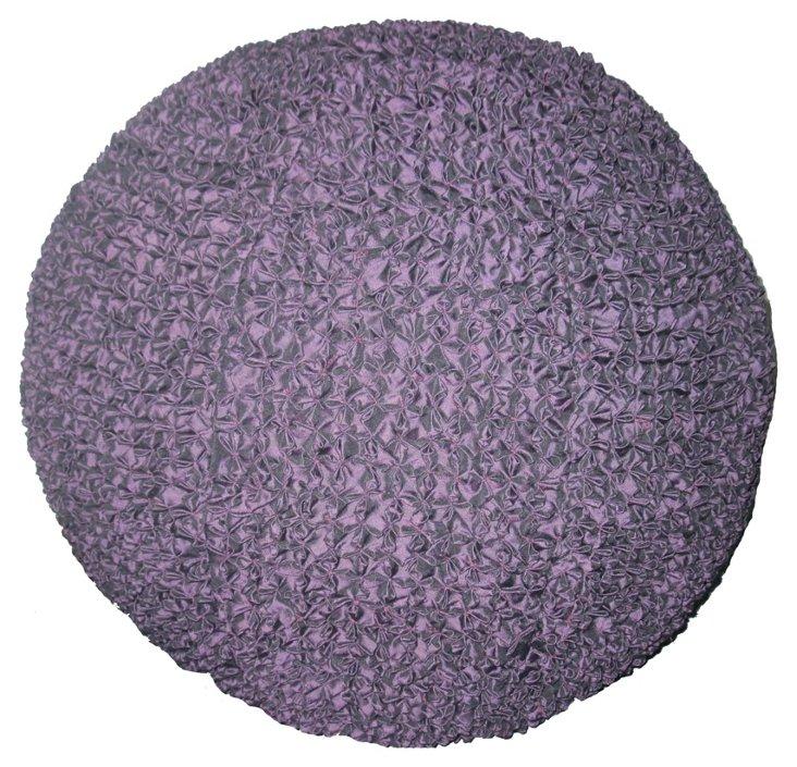 Pintuck Pouf, Lavender