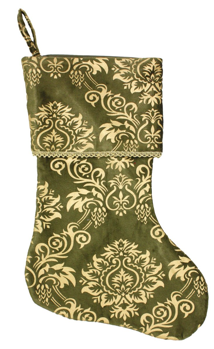 "15"" Mehindi Stocking, Gold/Green"