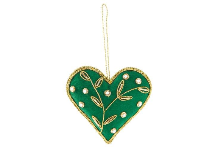 Green Heart Ornament