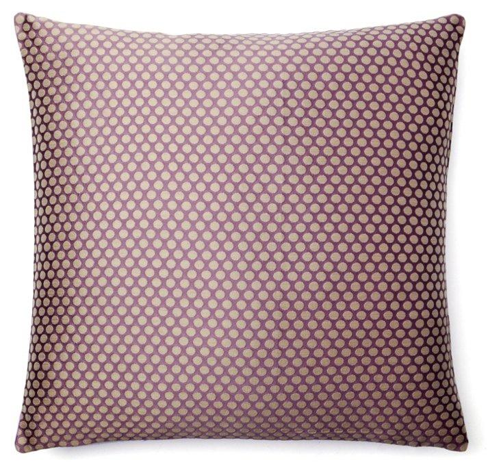 Les Pois 20x20 Pillow, Lavender