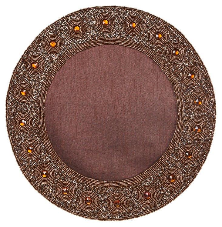 Beaded Circle Place Mat, Bronze