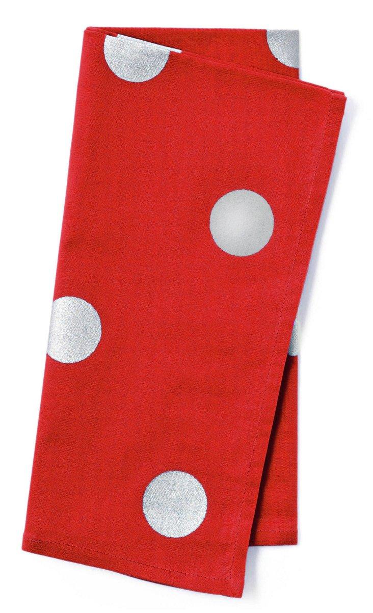 S/4 Khari Dot Napkins, Red