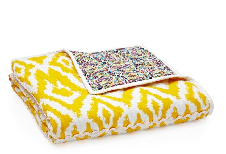 Ikat Quilt, Yellow/Multi