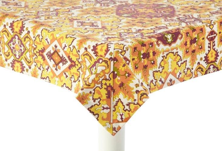 "Orange Casa Tablecloth, 70"" x 90"""