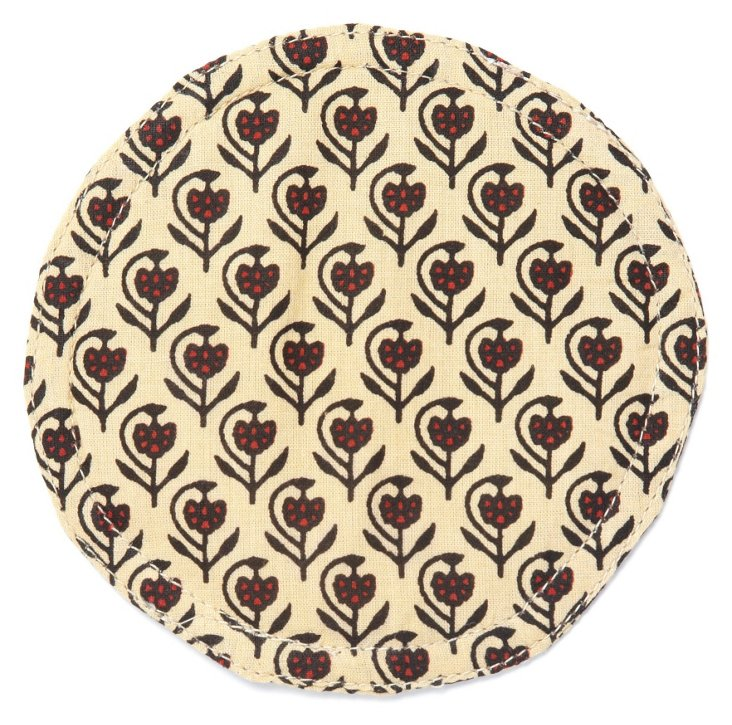 S/4 Liz Coasters, Tan
