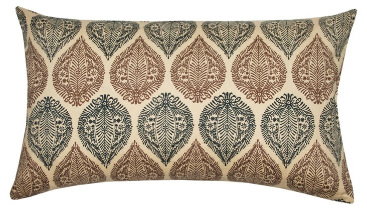 Indian Motif 14x24 Pillow, Taupe