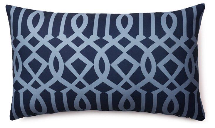 Variance 14x24 Outdoor Pillow, Navy