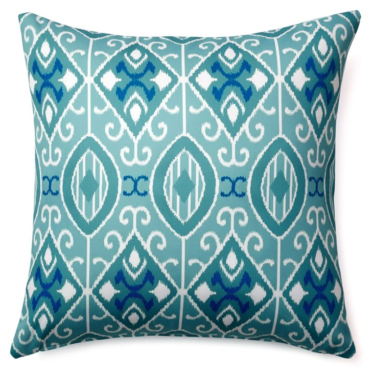 Pooled 20x20 Outdoor Pillow, Teal