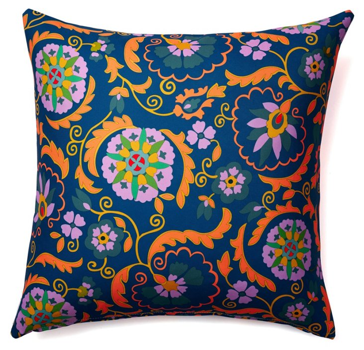 Lively 20x20 Outdoor Pillow, Navy
