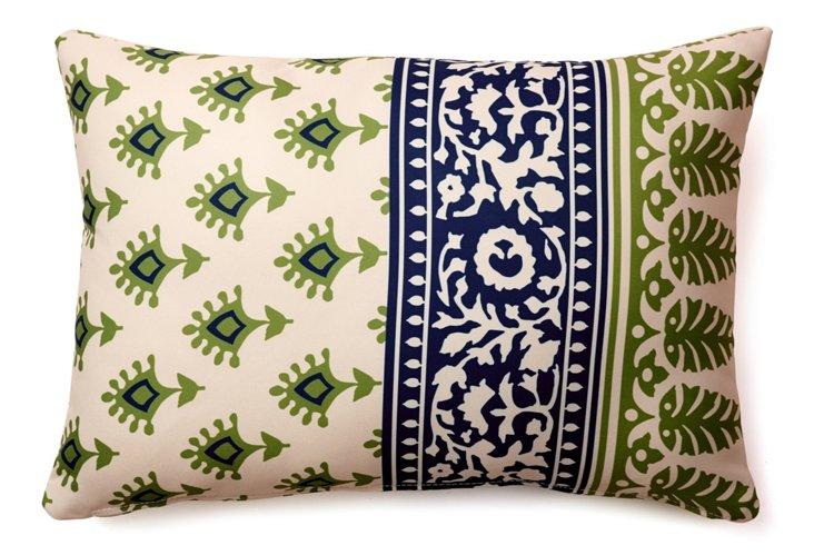 Batik 14x20 Outdoor Pillow, Green