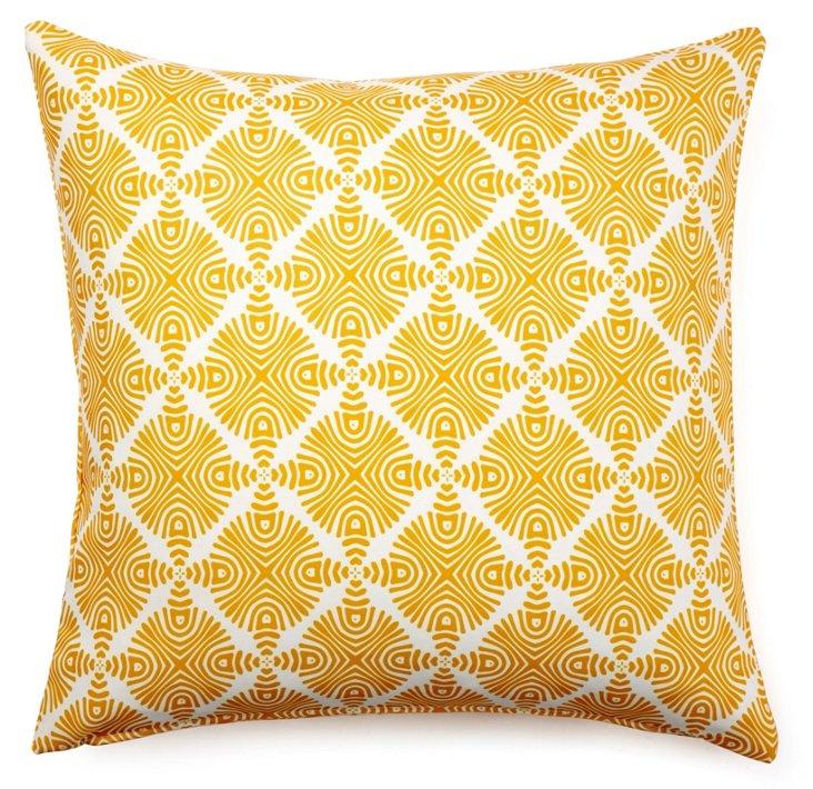 Sonar 20x20 Outdoor Pillow, Yellow