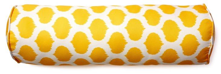 Dot 7x24 Outdoor Bolster Pillow, Yellow
