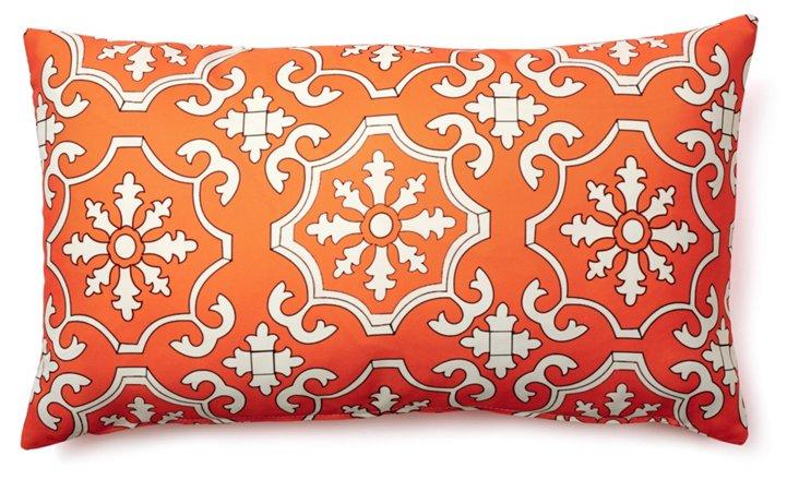 Tiles 14x24 Outdoor Pillow, Orange