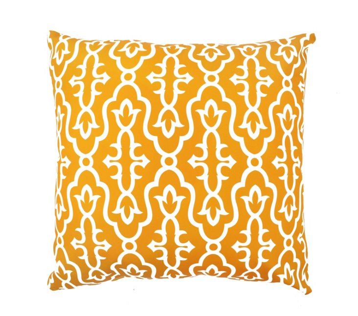 Exotic 20x20 Outdoor Pillow, Orange