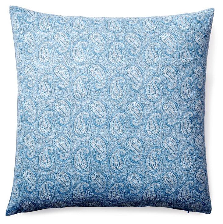 Bela 20x20 Cotton Pillow, Blue