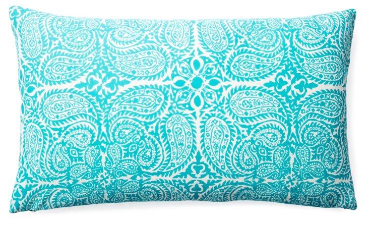 Maya 14x24 Cotton Pillow, Teal