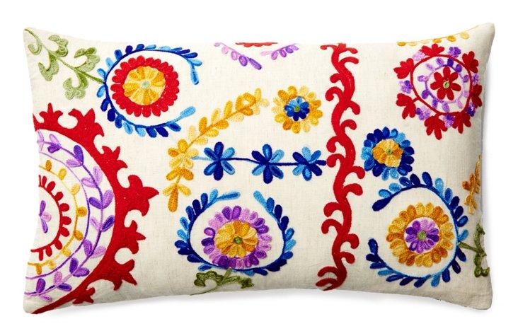 Bina 14x20 Embroidered Pillow, Multi