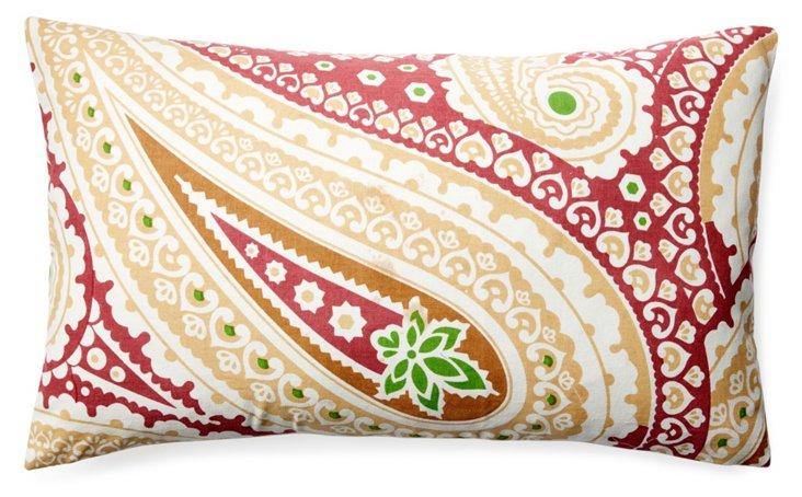 Laxmi 14x24 Cotton Pillow, Red