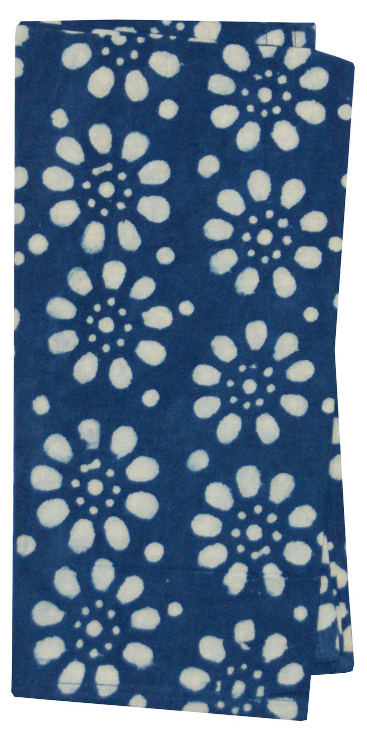 S/4 Meghan Block-Printed Napkins