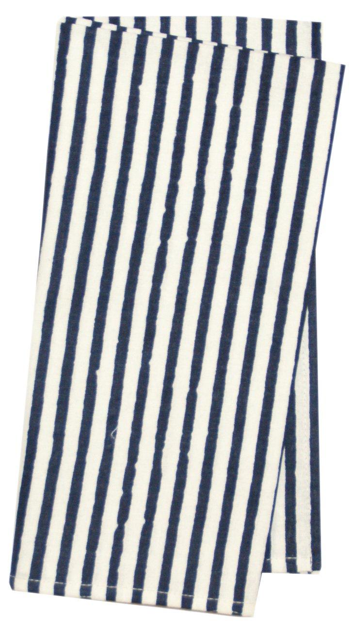 S/4 Stripes Napkins, Navy