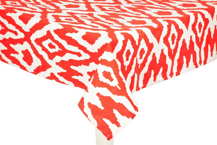 Overscale Ikat Tablecloth