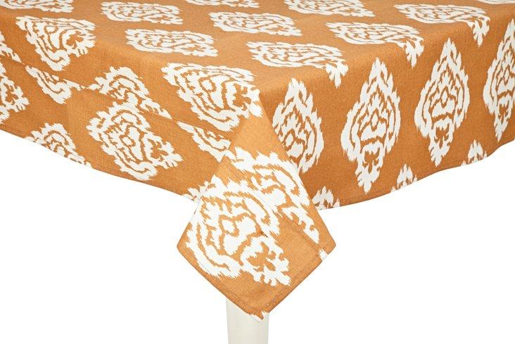 Ikat Damask Tablecloth