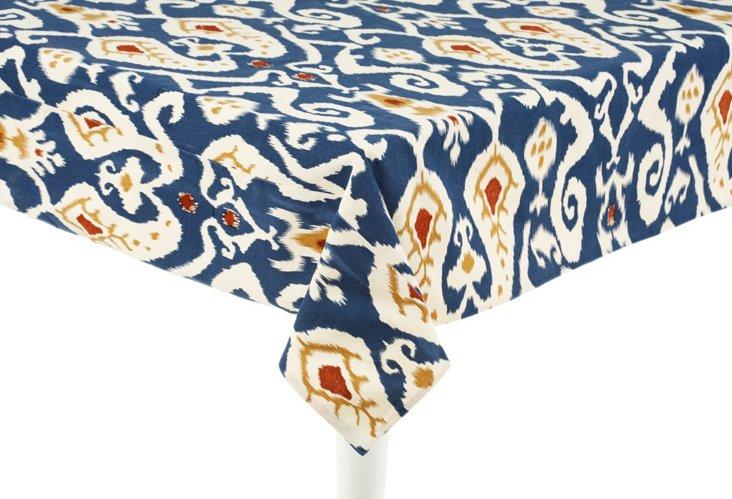 Ikat Tablecloth, Blue