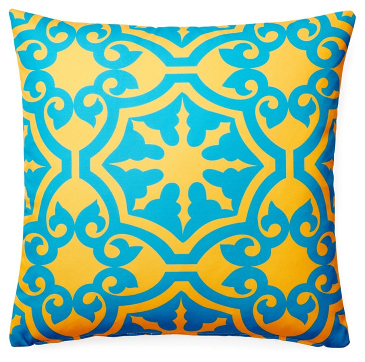 Athos 20x20 Outdoor Pillow, Aqua