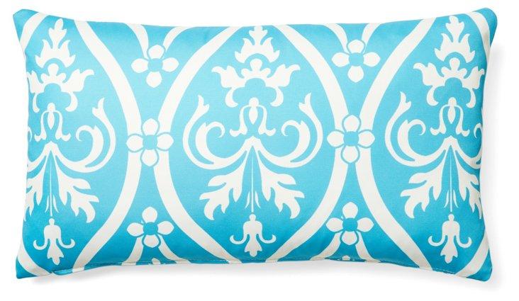 Murano 14x24 Outdoor Pillow, Aqua