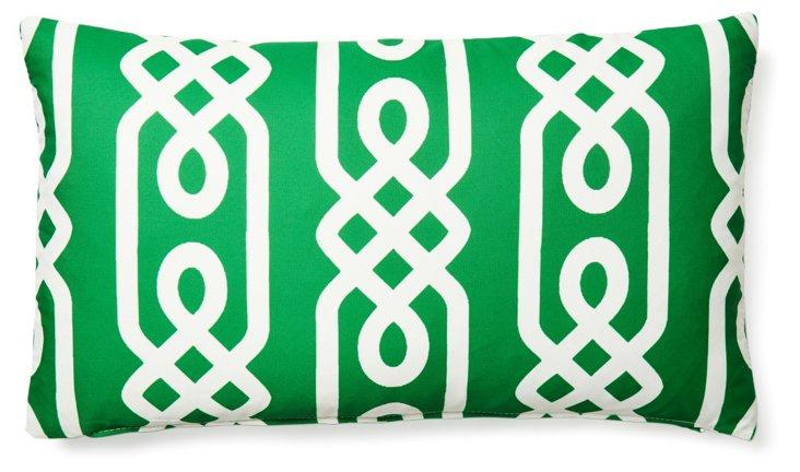 Aegean 14x24 Outdoor Pillow, Green
