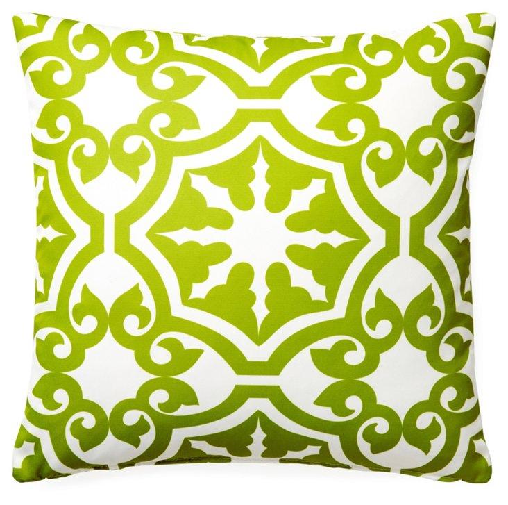 Athos 20x20 Outdoor Pillow, Green