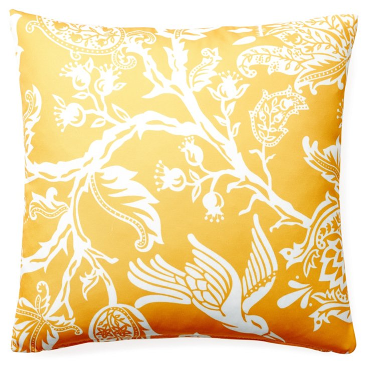 Avery 20x20 Outdoor Pillow, Yellow