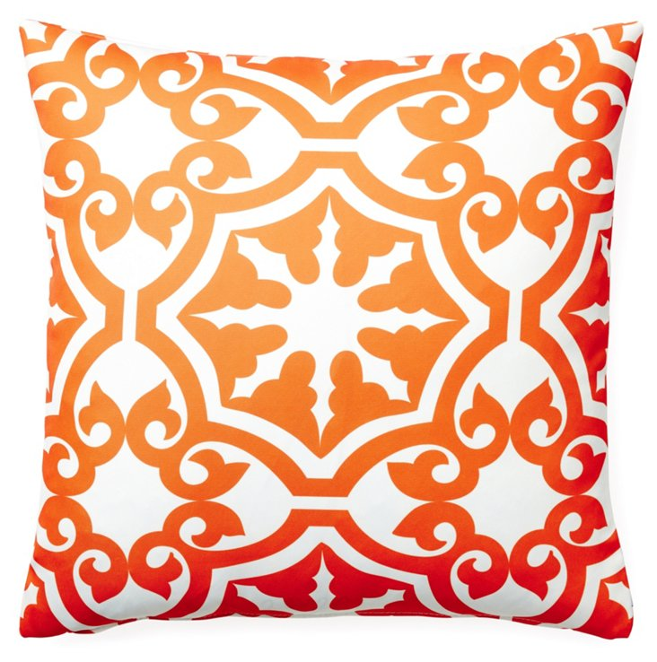 Athos 20x20 Outdoor Pillow, Orange