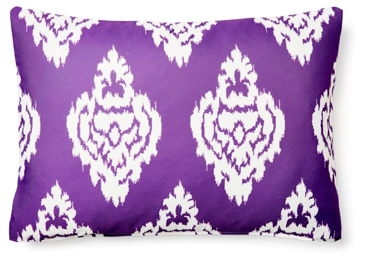 Damask 14x20 Outdoor Pillow, Purple