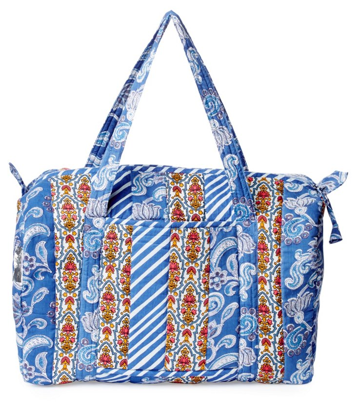 Cotton Tote, Blue/Red