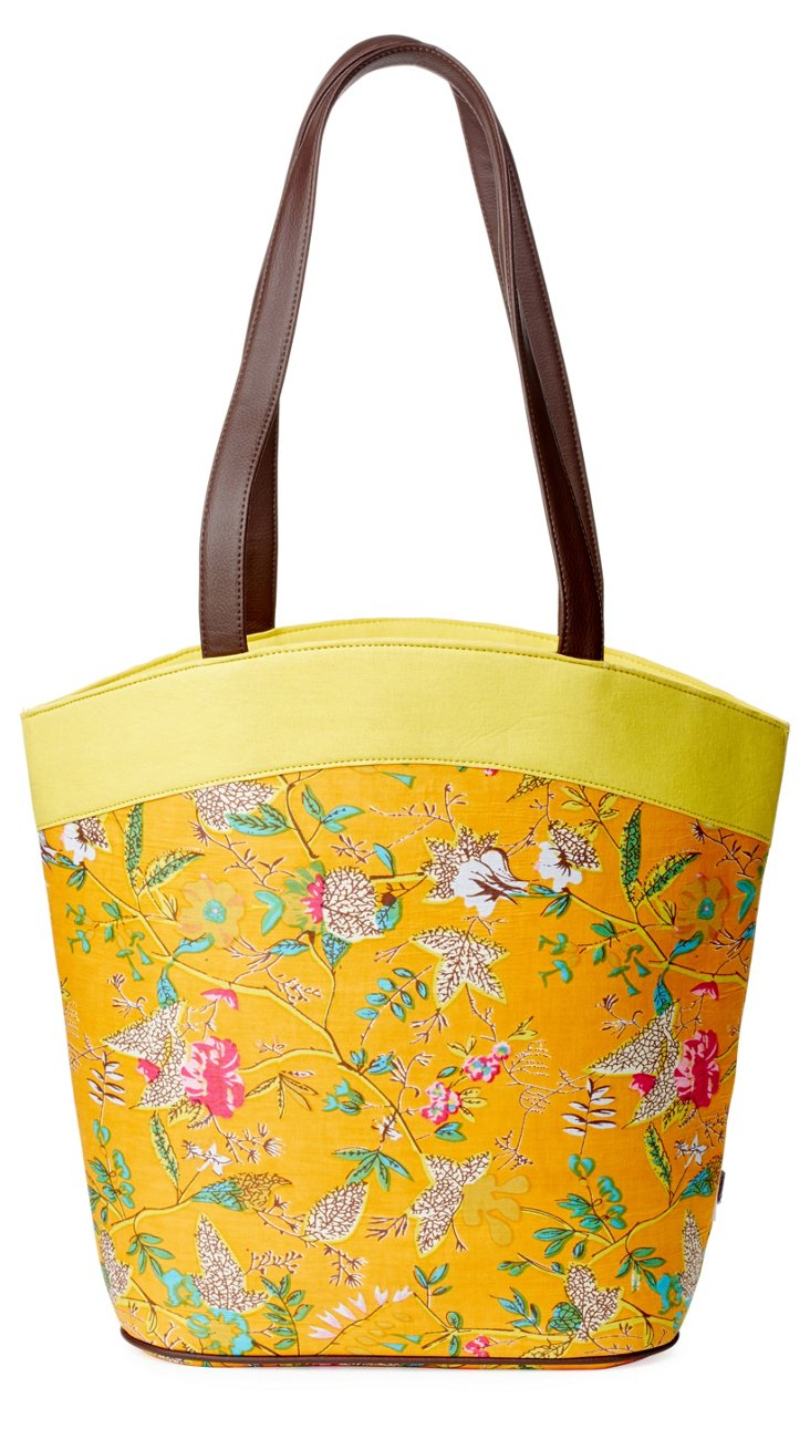Cotton Bucket Tote, Yellow