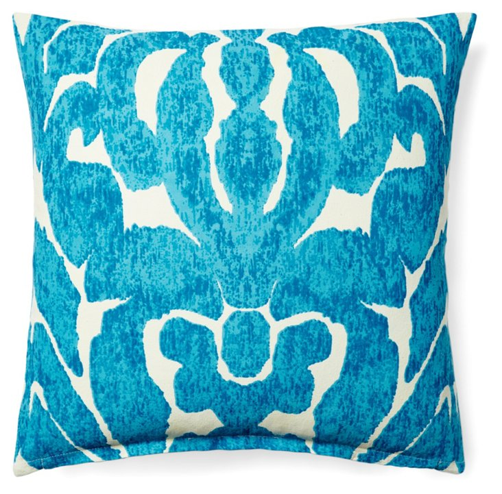 Carmel 20x20 Cotton Pillow, Aqua