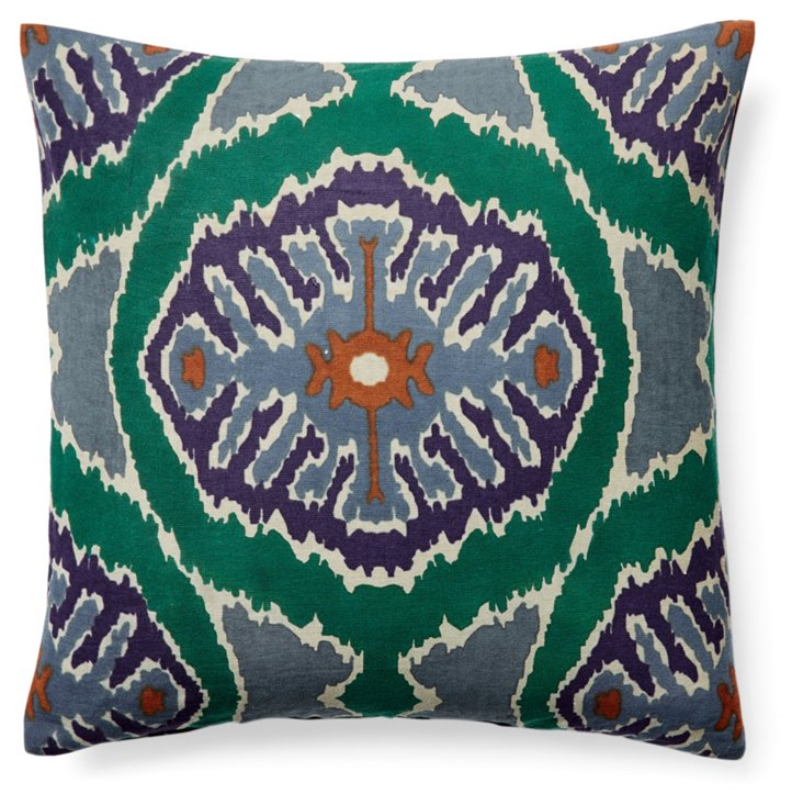 Azusa 16x16 Cotton Pillow, Multi